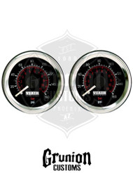 """Viair Air Pressure Gauges 2"""" BLACK Dual Needle 160 PSI 2 Pack 90082"""