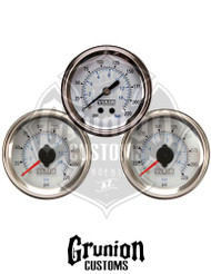 "Viair 2"" Air Pressure Gauges 220 PSI Dual & Single Needle WHITE Face 90081 / 90089"