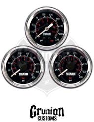 "Viair Air Pressure Gauges 220 PSI Dual & Single Needle Black Face 2"" 90080 / 90090"