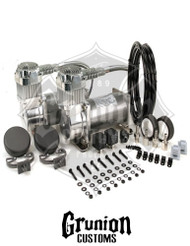 Viair 380C Pewter Dual Pack Compressor Kit 200 PSI Air Bag Ride Train Horns 38002