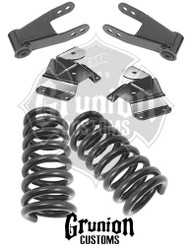 "GMC C1500 2/4"" Lowering Kit with Front Coils, Rear Shackles and Hangers"