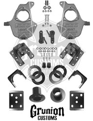 GMC Sierra 1500 2007-2013 Single Cab 3/5- 4/6 Lowering Kit McGaughys 34060