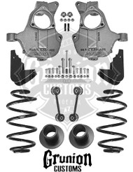 GMC Yukon 2014-2016 3/5 - 4/5 Lowering Kit NON Auto Ride McGaughys 34216
