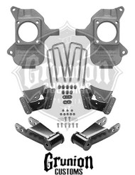 GMC Sierra 3500HD Dually Extended Cab 2002-2010 2/4 Lowering Kit McGaughys 33079