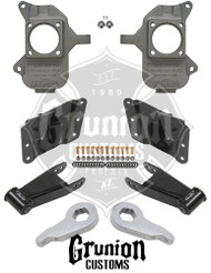 GMC Sierra 3500HD Dually Extended Cab 2002-2010 3/5 Lowering Kit McGaughys 33081
