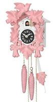 Sternreiter Quartz Pink Bird and Leaf Musical Cuckoo Clock 1201