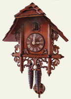 Rombach and Haas1 Day Black Forest Mini-Bahnhausle Cuckoo Clock 1223