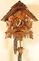 Rombach and Haas 1 Day Feeding Birds Chalet Cuckoo Clock 1249