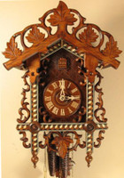 Rombach and Haas 1 Day Black Forest Bahnhäusle with Inlay Cuckoo Clock 1259