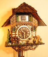 Rombach and Haas 1 Day Chimneysweep Musical Chalet Cuckoo Clock 1316