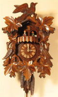 Romba 1 Day Black Forest Bird and Leaf Musical Cuckoo Clock 1343