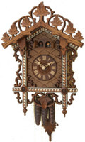 Rombach and Haas 1 Day Black Forest Bahnhausle Cuckoo Clock 1459
