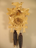 Sternreiter 8 Day Black Forest Bird and Leaf Cuckoo Clock 8200N