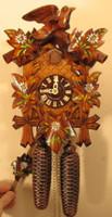 Sternreiter 8 Day Black Forest Bird and Leaf Cuckoo Clock 8200P