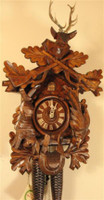 8-Day German Black Forest Hunting Cuckoo Clock 8220