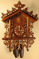 Rombach and Haas 8 Day Black Forest Bahnhäusle Chalet Cuckoo Clock 8223