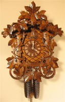 Rombach and Haas 8 Day Black Forest Leaf and Vine Cuckoo Clock 8225