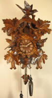 Rombach and Haas Quartz Black Forest Bird and Leaf Musical Cuckoo Clock 8233QM