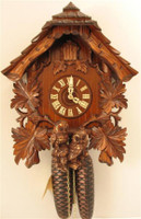 Rombach and Haas 8 Day Black Forest Owl Chalet Cuckoo Clock 8245