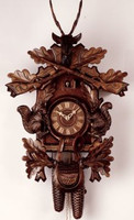 8-Day German Black Forest Hunting Cuckoo Clock 8261