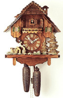 Rombach and Haas 8 Day Black Forest Chalet Cuckoo Clock 8286