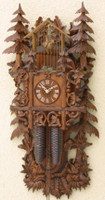 Rombach and Hass  8 Day Black Forest Bird Cage Cuckoo Clock 8295