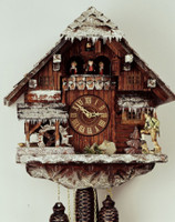 Rombach and Haas 8 Day Black Forest Winter Chalet Musical Cuckoo Clock 8318W