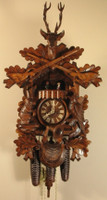 Rombach and Haas 8 Day Black Forest Musical Hunting Cuckoo Clock 8330