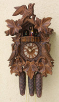 Rombach & Haas 8 Day Black Forest Bird and Leaf Musical Cuckoo Clock 8343