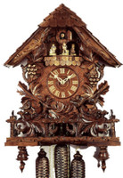 Rombach and Haas 8 Day Black Forest Chalet Musical Cuckoo Clock 8347