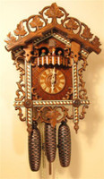 Rombach and Haas 8 Day Black Forest Bahnhäusle Chalet Cuckoo Clock 8359