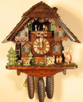 Rombach and Haas 8 Day Black Forest Water Girl Chalet Cuckoo Clock 8363