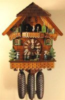Rombach and Haas 8 Day Black Forest Chalet Musical Cuckoo Clock 8390