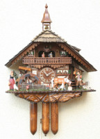 Rombach and Haas 8 Day Grazing Horse Musical Chalet Cuckoo Clock 8393