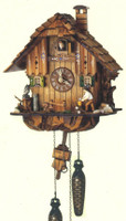 Schneider Quartz German Black Forest Chalet Cuckoo Clock Q 1105/10