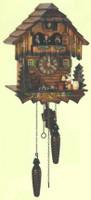Schneider Quartz German Black Forest Chalet Cuckoo Clock Q 5403/10
