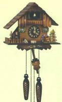 Schneider Quartz German Black Forest Chalet Musical Cuckoo Clock Q 74/10