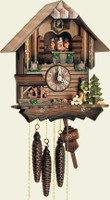 Schneider 1 Day Wooden Musical Cuckoo Clock  MT 405/10