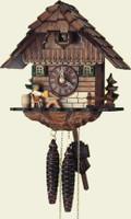 Schneider 1 Day Wooden Chalet Beerdrinker Cuckoo Clock 1104/9
