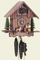 Schneider 1 Day Wooden Chalet Cuckoo Clock 1203/9