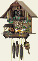 Schneider 1 Day Wooden Musical Cuckoo Clock - MT 4407/10