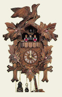 Schneider 1 Day Bird and Leaf Musical Cuckoo Clock - MT 6100/10