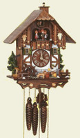 Schneider 1 Day Wooden Musical Cuckoo Clock - MT 6564/9