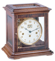 22840 030340 A Boston Mechanical Walnut  Mantel Clock by Hermle