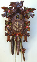 Schneider 1 Day Bird and Painted Leaf Cuckoo Clock - 90/10