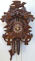 Schneider 1 Day Bird and Leaf Cuckoo Clock - 872/9