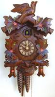 Schneider 1 Day Bird and Painted Leaf Cuckoo Clock - 96/10