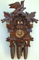 Schneider 8 Day Bird and Leaf Cuckoo Clock 8TMT 176/9