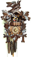 Schneider Bird and Leaf 1 Day Musical Cuckoo Clock - MT 6100/9