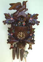 Schneider 1 Day Bird and Leaf Musical Cuckoo Clock - MT 6106/10